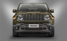 Preview wallpaper Jeep Renegade 75th Anniversary car front view