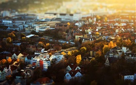 Preview wallpaper Jena, Deutschland, Thuringia, city, houses, buildings, autumn