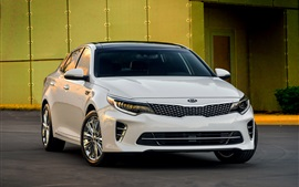 Preview wallpaper Kia Optima white car
