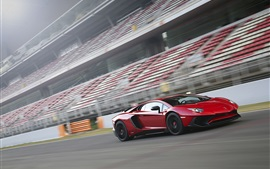 Preview wallpaper Lamborghini Aventador LP750-4 SV red supercar