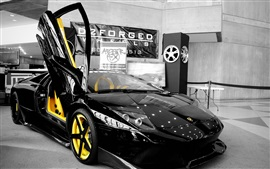 Preview wallpaper Lamborghini Murcielago black supercar front view