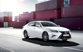 Preview wallpaper Lexus ES 200 white car at port, high speed