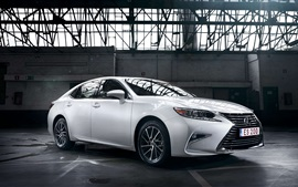 Preview wallpaper Lexus ES 200 white car side view