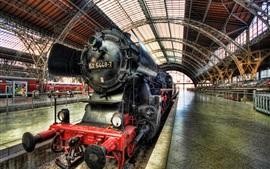 Preview wallpaper Locomotive, steam train, Dresden, Germany