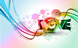 Preview wallpaper Love, beautiful vector design