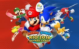 Aperçu fond d'écran Mario et Sonic aux Jeux Olympiques Rio 2016