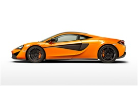 Preview wallpaper McLaren 570S orange supercar side view
