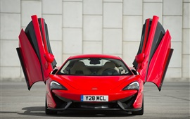Preview wallpaper McLaren 570S red supercar front view, wings
