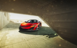 Preview wallpaper McLaren 675LT orange supercar front view