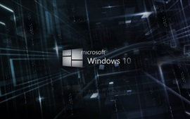 Microsoft Windows 10 logo, 3D background