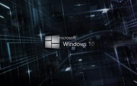 10 logotipo de Microsoft Windows, fondo 3D