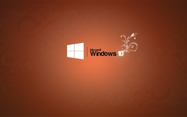 Preview wallpaper Microsoft Windows 10 logo, orange background