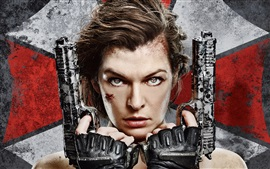 Preview wallpaper Milla Jovovich, Resident Evil: The Final Chapter 2017
