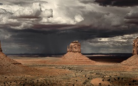 Preview wallpaper Monument Valley, Arizona, USA, storm, cloudy sky