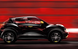 Preview wallpaper Nissan Juke black car speed
