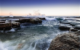 Preview wallpaper North Narrabeen, Sydney, Australia, sea, coast, rocks