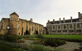 Palácio eo jardim ruínas, Falkland, Escócia
