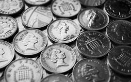 미리보기 배경 화면 동전, 동전, 돈, 잉글랜드