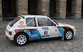 Preview wallpaper Peugeot 205 T16 white car