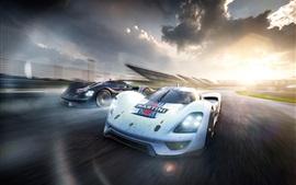Aperçu fond d'écran Porsche Vision GT vitesse concept de supercar