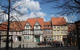Preview wallpaper Quedlinburg, Germany, house, trees