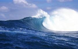 Aperçu fond d'écran vagues bruts, mer, Tahiti, Polynésie française