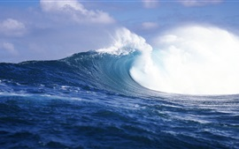 Preview wallpaper Rough waves, sea, Tahiti, French Polynesia