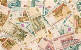 Preview wallpaper Russian money, RUR, currency, banknotes