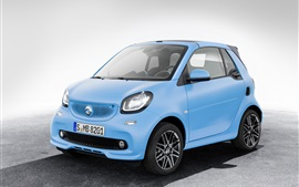 Preview wallpaper Smart Fortwo Cabrio Brabus Edition blue car