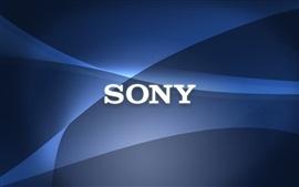 Sony логотип, абстрактный фон