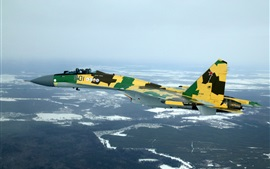 Preview wallpaper Su-35S versatile fighter, Russian