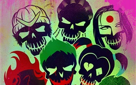 Preview wallpaper Suicide Squad, 2016 movie art