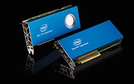 Preview wallpaper Supercomputer core hardware, Intel coprocessor card
