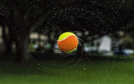 Preview wallpaper Tennis, ball, flight, water splash