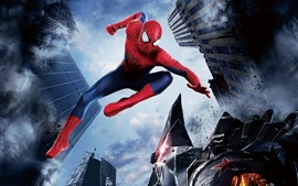 Preview wallpaper The Amazing Spider Man 2, city, hero