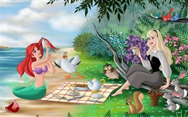 Preview wallpaper The Little Mermaid and Sleeping Beauty, Disney animated film