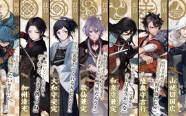 Preview wallpaper Touken Ranbu, video game