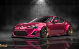 Preview wallpaper Toyota GT86 red car