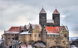 Preview wallpaper Travel to Germany, Quedlinburg, castle, house