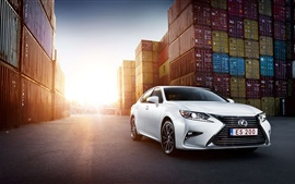 Preview wallpaper White Lexus ES 200 car front view