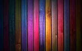 Preview wallpaper Wood slats, rainbow colors