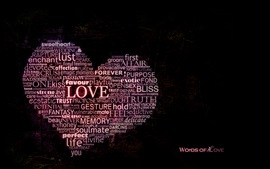 Preview wallpaper Words of Love