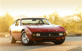 Preview wallpaper 1972 Ferrari 365 GTC-4 red car front view