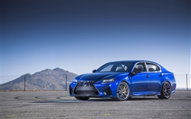 Preview wallpaper 2016 Lexus GS F blue car