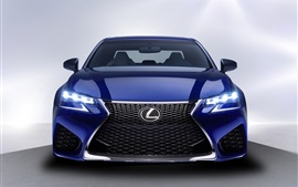 Preview wallpaper 2016 Lexus GS blue car front view, lights