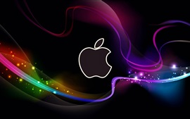 Preview wallpaper Abstract Apple logo, colorful lines