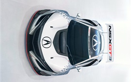 Acura NSX GT3 supercar front top view