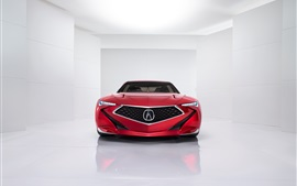 Preview wallpaper Acura Precision Concept red car front view