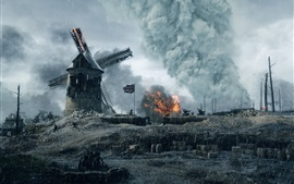 Preview wallpaper Battlefield 1, 2016 Xbox games, screenshot, rainy day