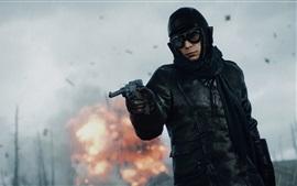 壁紙のプレビュー 戦場1は、兵士は雨の中で銃を使用します
